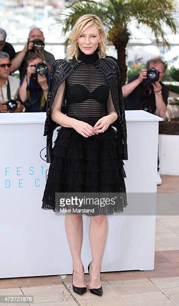 Cate Blanchett attends the 'Carol' Photocall during the 68th annual Cannes Film Festival on May 17 2015 in Cannes France