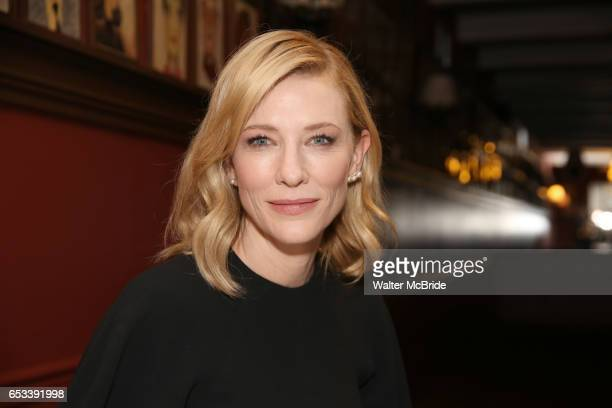 Cate Blanchett attends the Cate Blanchett and Richard Roxburgh Caricature Unveiling at Sardi's on March 14 2017 in New York City