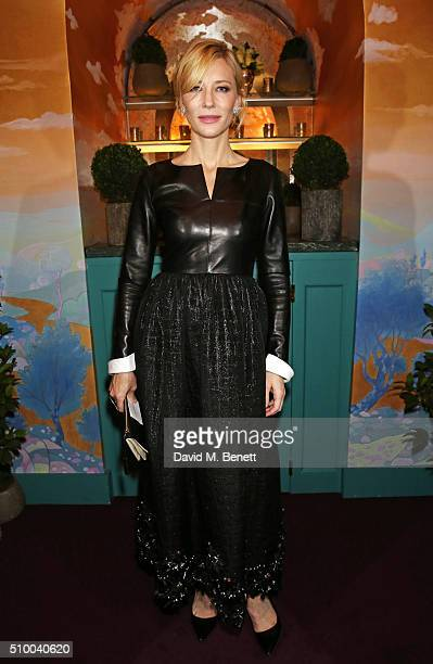 Cate Blanchett attends the Charles Finch and Chanel PreBAFTA cocktail party and dinner at Annabel's on February 13 2016 in London England