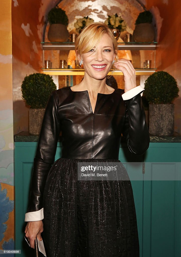 <a gi-track='captionPersonalityLinkClicked' href=/galleries/search?phrase=Cate+Blanchett&family=editorial&specificpeople=201621 ng-click='$event.stopPropagation()'>Cate Blanchett</a> attends the Charles Finch and Chanel Pre-BAFTA cocktail party and dinner at Annabel's on February 13, 2016 in London, England.