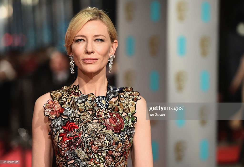 Cate Blanchett attends the EE British Academy Film Awards at the Royal Opera House on February 14, 2016 in London, England.