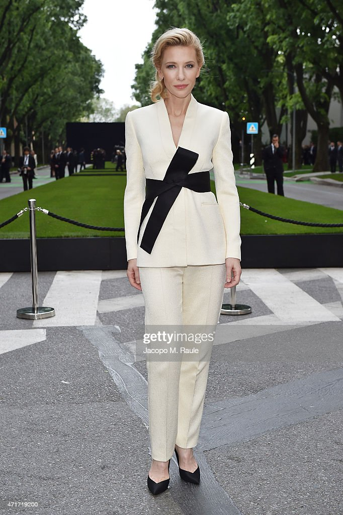 <a gi-track='captionPersonalityLinkClicked' href=/galleries/search?phrase=Cate+Blanchett&family=editorial&specificpeople=201621 ng-click='$event.stopPropagation()'>Cate Blanchett</a> attends the Giorgio Armani 40th Anniversary Silos Opening And Cocktail Reception on April 30, 2015 in Milan, Italy.