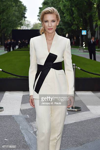 Cate Blanchett attends the Giorgio Armani 40th Anniversary Silos Opening And Cocktail Reception on April 30 2015 in Milan Italy