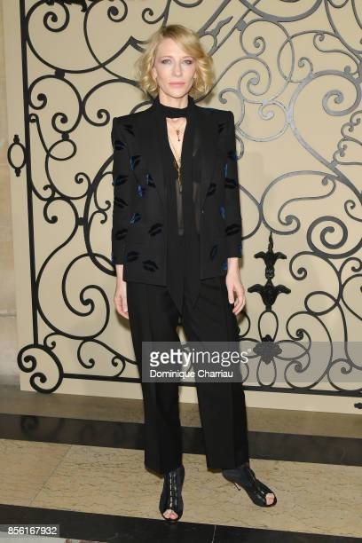 Cate Blanchett attends the Givenchy show as part of the Paris Fashion Week Womenswear Spring/Summer 2018 on October 1 2017 in Paris France