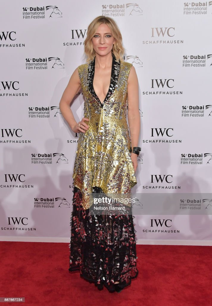 Cate Blanchett attends the IWC Filmmakers Award on day two of the 14th Annual Dubai International Film Festival held at the One and Only Hotel on December 7, 2017 in Dubai, United Arab Emirates.