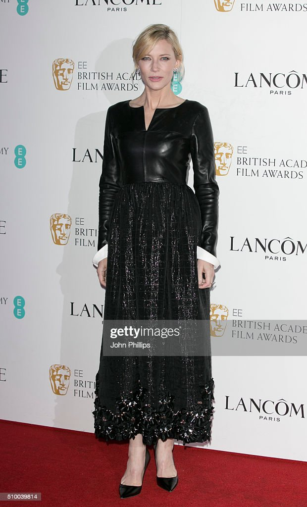Cate Blanchett attends the Lancome BAFTA nominees party at Kensington Palace on February 13, 2016 in London, England.