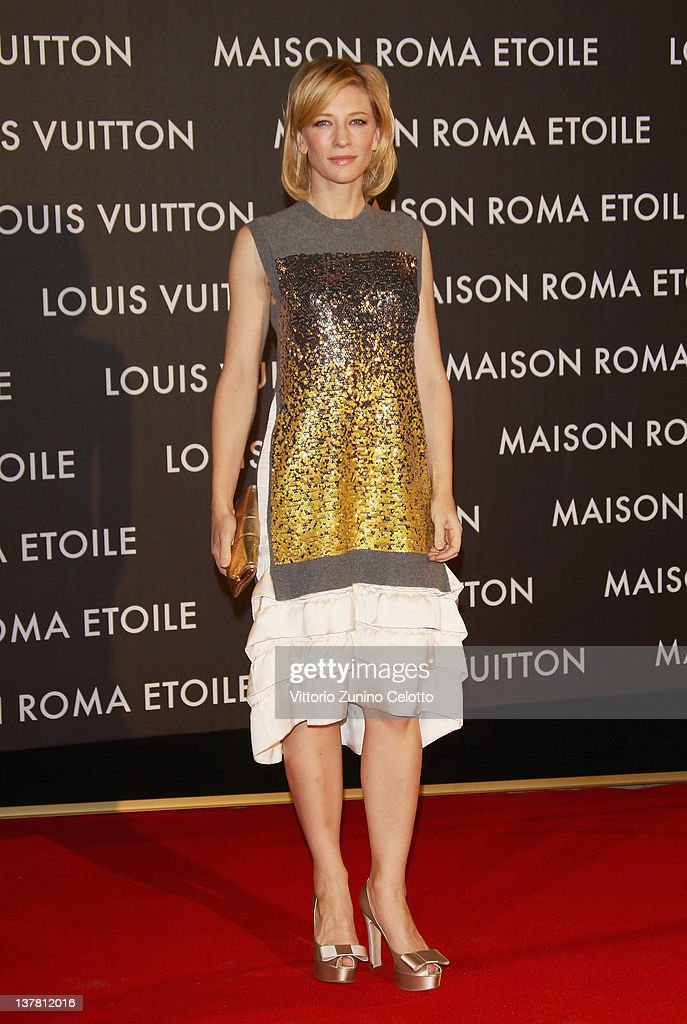 Cate Blanchett attends the 'Maison Louis Vuitton Roma Etoile' Opening Party on January 27, 2012 in Rome, Italy.