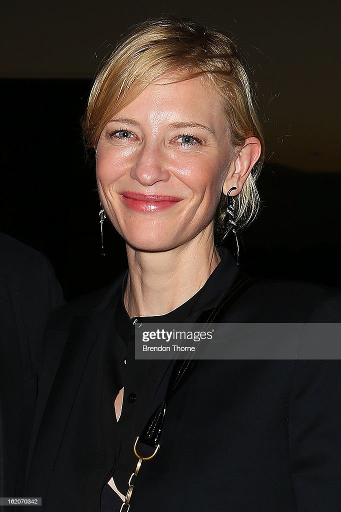 <a gi-track='captionPersonalityLinkClicked' href=/galleries/search?phrase=Cate+Blanchett&family=editorial&specificpeople=201621 ng-click='$event.stopPropagation()'>Cate Blanchett</a> attends the opening night of Mrs Warren's Profession at Sydney Theatre Company on February 19, 2013 in Sydney, Australia.