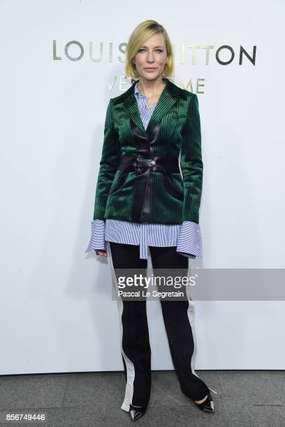Cate blanchett attends the Opening Of The Louis Vuitton Boutique as part of the Paris Fashion Week Womenswear Spring/Summer 2018 on October 2 2017 in...