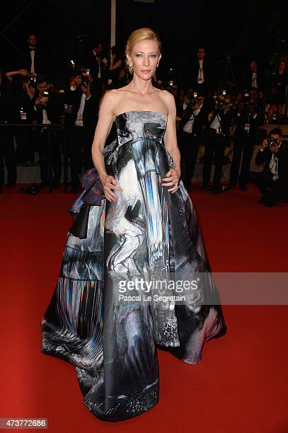 Cate Blanchett attends the Premiere of 'Carol' during the 68th annual Cannes Film Festival on May 17 2015 in Cannes France