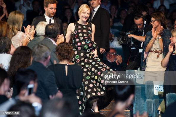 Cate Blanchett attends the premiere of the movie 'Blue Jasmine' during the 39th Deauville American film festival on August 31 2013 in Deauville France
