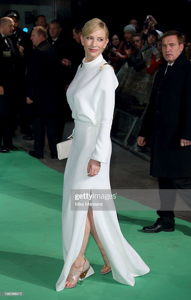 <a gi-track='captionPersonalityLinkClicked' href=/galleries/search?phrase=Cate+Blanchett&family=editorial&specificpeople=201621 ng-click='$event.stopPropagation()'>Cate Blanchett</a> attends the Royal Film Performance of 'The Hobbit: An Unexpected Journey' at Odeon Leicester Square on December 12, 2012 in London, England.