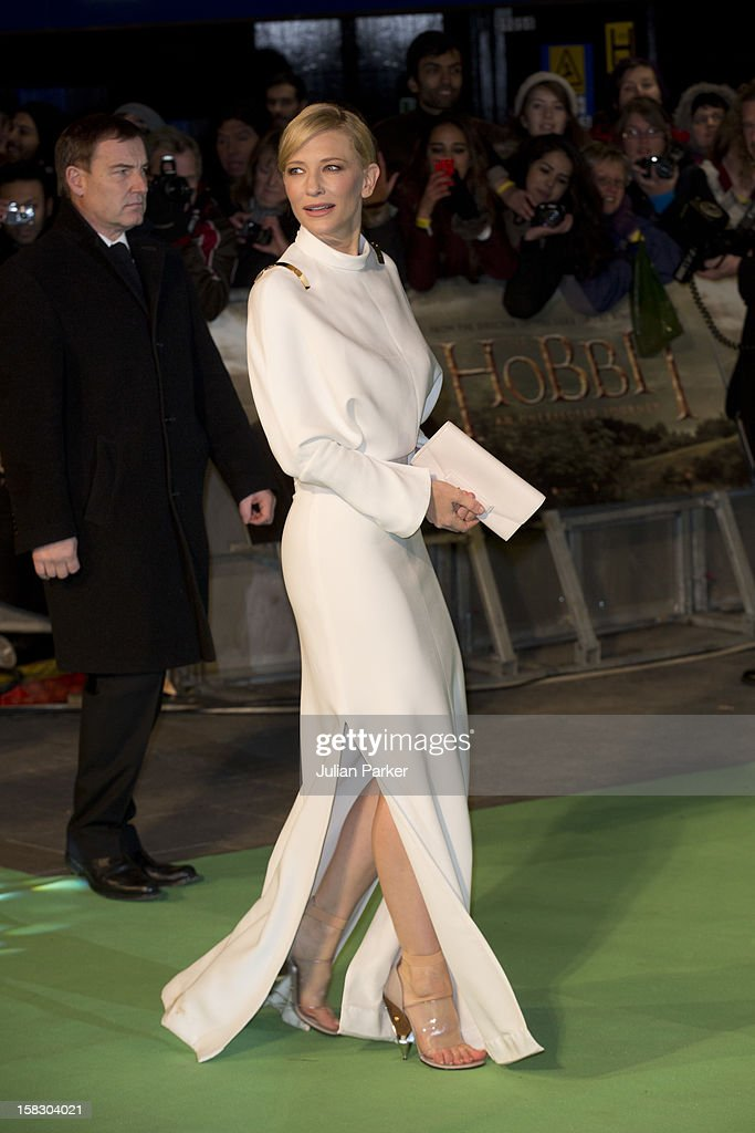 Cate Blanchett, attends the Royal Film Performance of 'The Hobbit: An Unexpected Journey' , at Odeon Leicester Square on December 12, 2012 in London, England.
