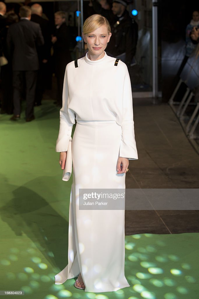 <a gi-track='captionPersonalityLinkClicked' href=/galleries/search?phrase=Cate+Blanchett&family=editorial&specificpeople=201621 ng-click='$event.stopPropagation()'>Cate Blanchett</a>, attends the Royal Film Performance of 'The Hobbit: An Unexpected Journey' , at Odeon Leicester Square on December 12, 2012 in London, England.