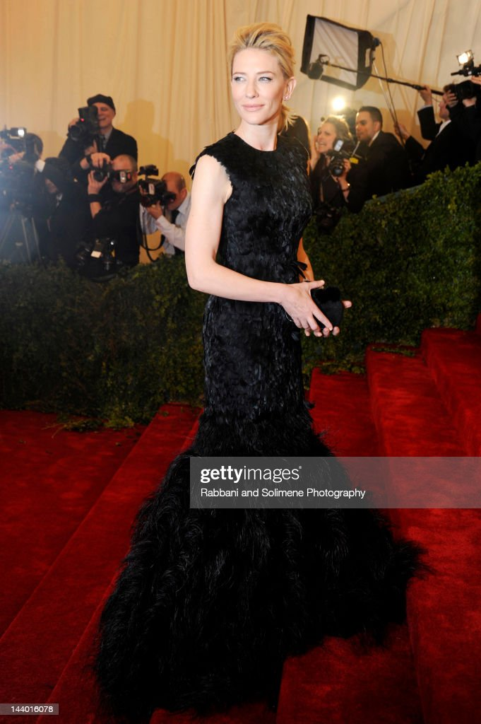 Cate Blanchett attends the 'Schiaparelli And Prada Impossible Conversations' Costume Institute Gala at the Metropolitan Museum of Art on May 7 2012...