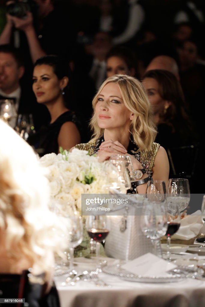 Cate Blanchett attends the sixth IWC Filmmaker Award gala dinner at the 14th Dubai International Film Festival (DIFF), during which Swiss luxury watch manufacturer IWC Schaffhausen celebrated its long-standing passion for filmmaking at One And Only Royal Mirage on December 7, 2017 in Dubai, United Arab Emirates.