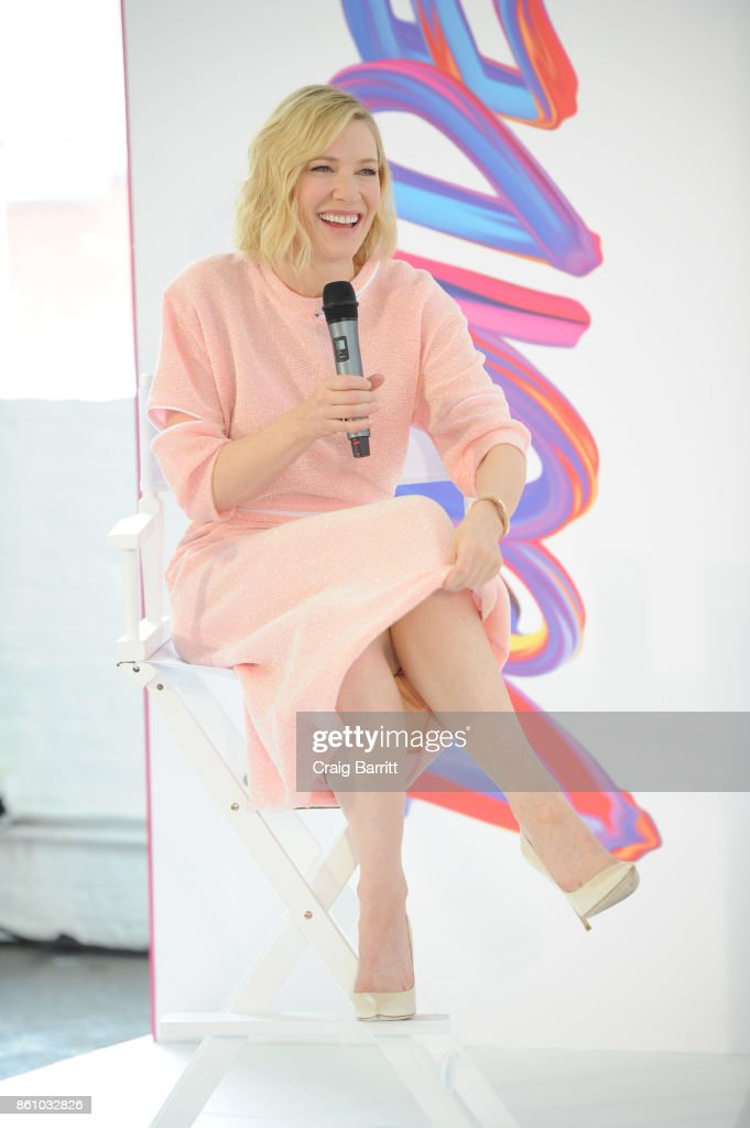 Cate Blanchett attends the SK-II Change Destiny Limited Edition Series Launch at Industria on October 12, 2017 in New York City.