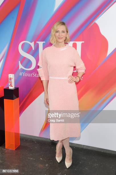 Cate Blanchett attends the SKII Change Destiny Limited Edition Series Launch at Industria on October 12 2017 in New York City
