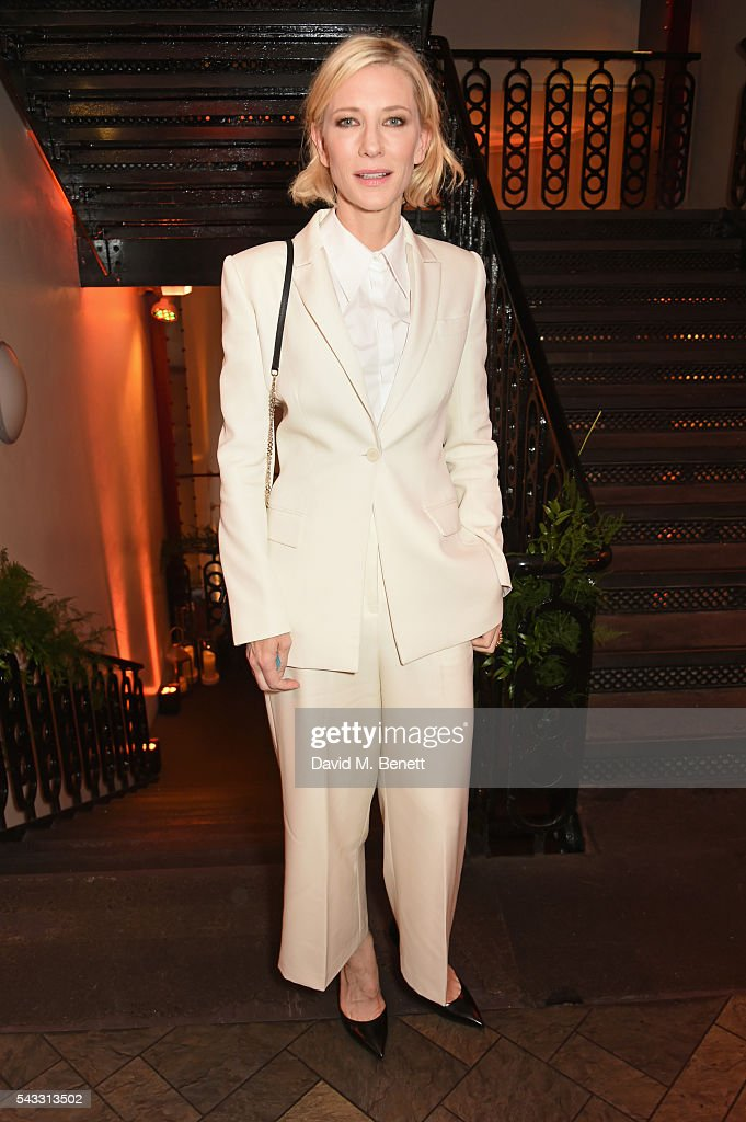 <a gi-track='captionPersonalityLinkClicked' href=/galleries/search?phrase=Cate+Blanchett&family=editorial&specificpeople=201621 ng-click='$event.stopPropagation()'>Cate Blanchett</a> attends the Summer Gala for The Old Vic at The Brewery on June 27, 2016 in London, England.