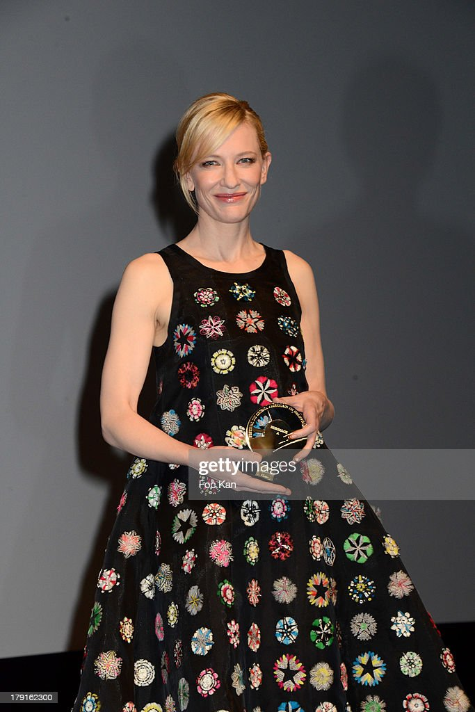 <a gi-track='captionPersonalityLinkClicked' href=/galleries/search?phrase=Cate+Blanchett&family=editorial&specificpeople=201621 ng-click='$event.stopPropagation()'>Cate Blanchett</a> attends the Tribute to <a gi-track='captionPersonalityLinkClicked' href=/galleries/search?phrase=Cate+Blanchett&family=editorial&specificpeople=201621 ng-click='$event.stopPropagation()'>Cate Blanchett</a> Ceremony during the 'Blue Jasmine' Premiere at the 39th Deauville Film Festival at the CID on August 31, 2013 in Deauville, France.