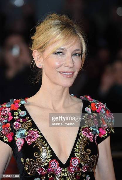 Cate Blanchett attends the 'Truth' Fellowship Special Presentation Gala during the BFI London Film Festival at Odeon Leicester Square on October 17...