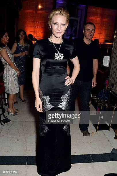 Cate Blanchett attends the Weinstein Co Entertainment and Pathe postBAFTA party hosted by Bulgari and Grey Goose at Rosewood London on February 16...