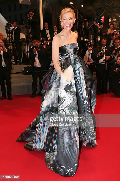 Cate Blanchett departs after the Premiere of 'Carol' during the 68th annual Cannes Film Festival on May 17 2015 in Cannes France