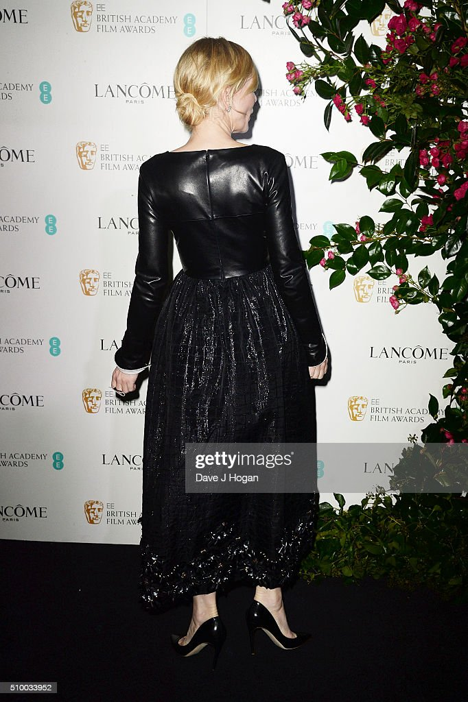 <a gi-track='captionPersonalityLinkClicked' href=/galleries/search?phrase=Cate+Blanchett&family=editorial&specificpeople=201621 ng-click='$event.stopPropagation()'>Cate Blanchett</a>, dress detail, attends the Lancome BAFTA nominees party at Kensington Palace on February 13, 2016 in London, England.
