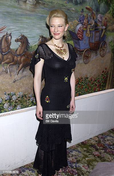 Cate Blanchett during 2001 National Board of Review Awards at Tavern on the Green in New York NY United States
