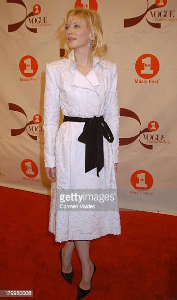 Cate Blanchett during 2002 VH1 Vogue Fashion Awards Arrivals at Radio City Music Hall in New York City New York United States