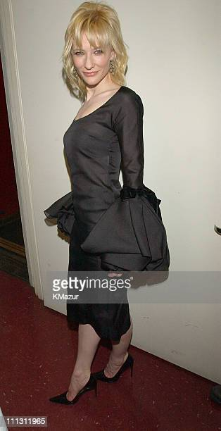 Cate Blanchett during 2002 VH1 Vogue Fashion Awards Backstage and Audience at Radio City Music Hall in New York City New York United States