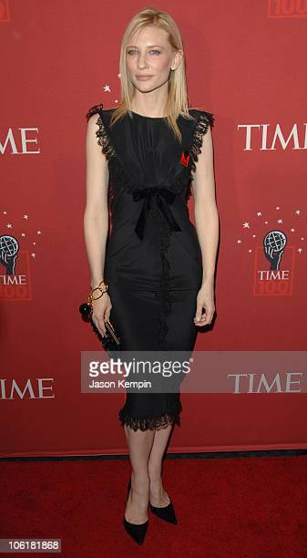 Cate Blanchett during Time Magazine's 100 Most Influential People 2007 Red Carpet Arrivals at Jazz at Lincoln Center in New York City New York United...