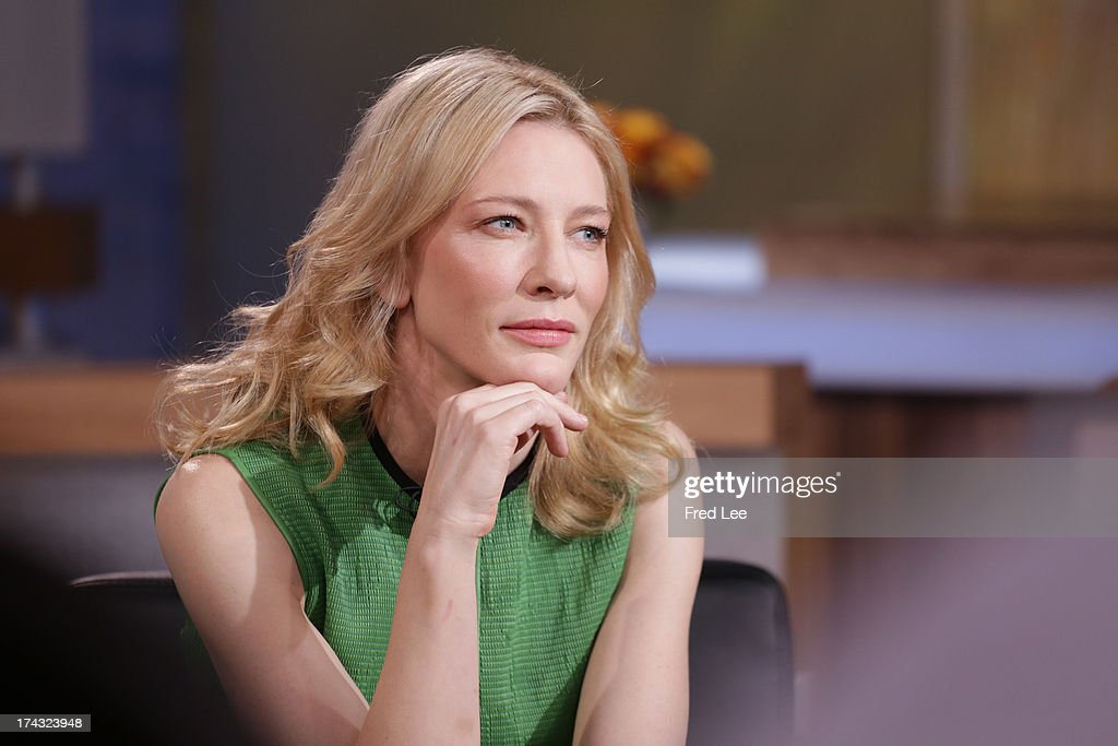 AMERICA - <a gi-track='captionPersonalityLinkClicked' href=/galleries/search?phrase=Cate+Blanchett&family=editorial&specificpeople=201621 ng-click='$event.stopPropagation()'>Cate Blanchett</a> is a guest on 'Good Morning America,' 7/23/13, airing on the ABC Television Network. (Photo by Fred Lee/ABC via Getty Images)CATE