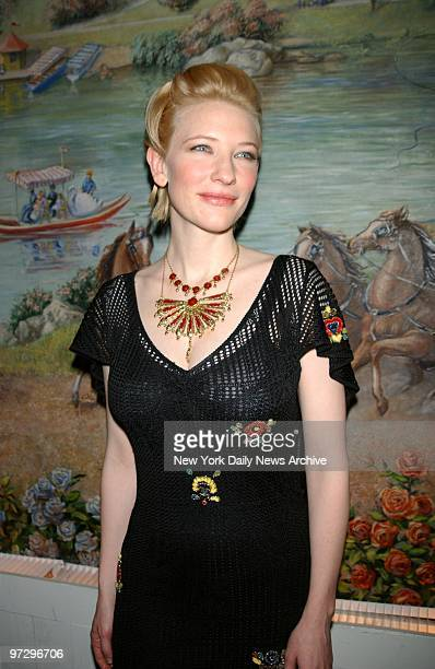 Cate Blanchett is on hand at the 2001 National Board of Review Awards at Tavern on the Green where she received the Best Supporting Actress award