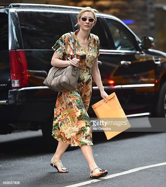Cate Blanchett is seen on August 12 2014 in New York City