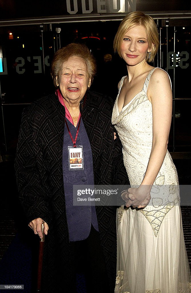 Cate Blanchett & Nancy Wake, Royal Charity Premiere Of 'Charlotte Gray', Odeon Leicester Square, London