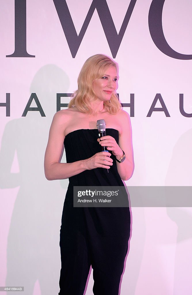 <a gi-track='captionPersonalityLinkClicked' href=/galleries/search?phrase=Cate+Blanchett&family=editorial&specificpeople=201621 ng-click='$event.stopPropagation()'>Cate Blanchett</a> on stage at 'For The Love of Cinema - IWC Filmmakers Award' during day two of the 10th Annual Dubai International Film Festival held at the One and Only Mirage Hotel on December 7, 2013 in Dubai, United Arab Emirates.