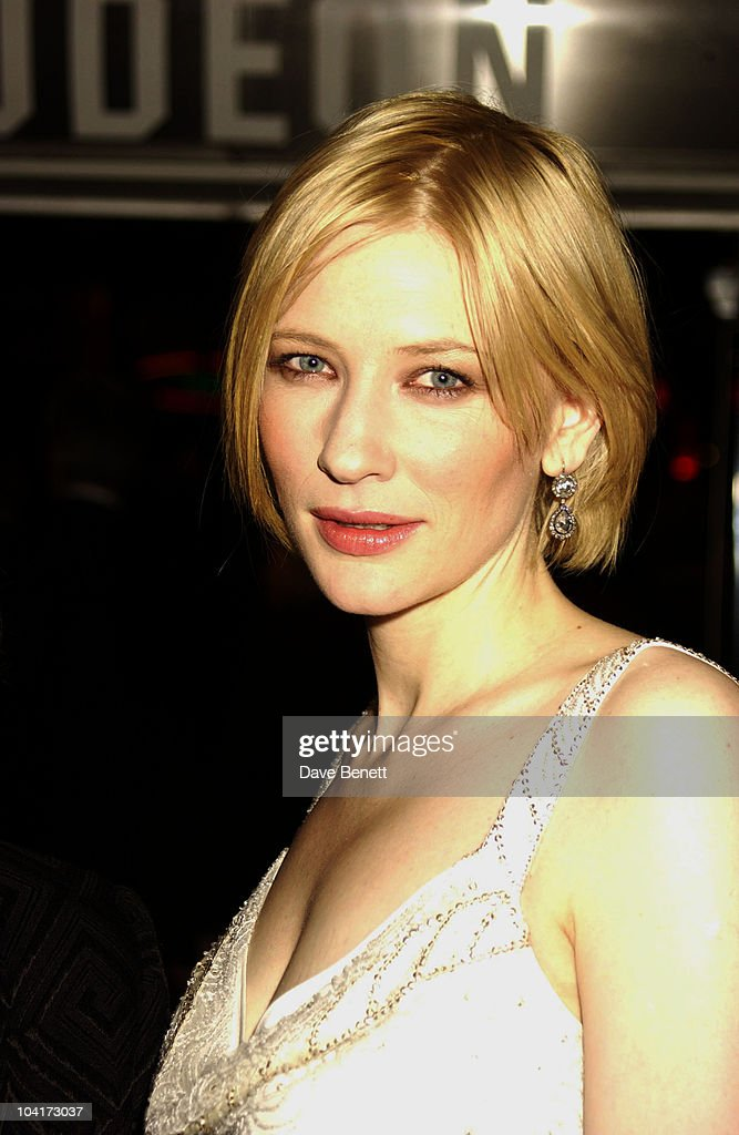 Cate Blanchett, Royal Charity Premiere Of 'Charlotte Gray', Odeon Leicester Square, London