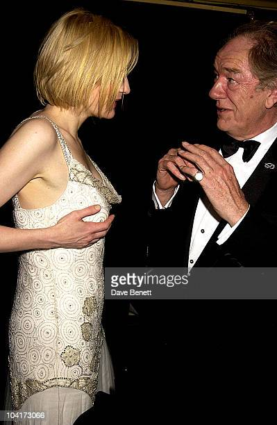 Cate Blanchette Sir Michael Gambon Royal Charity Premiere Of 'Charlotte Gray' Odeon Leicester Square London
