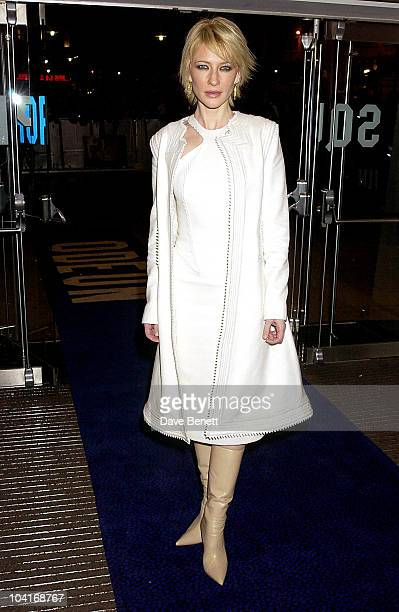 Cate Blanchett The Uk Movie Premiere Of Ôlord Of The Rings The Two Towers' At The Odeon Leicester Square London