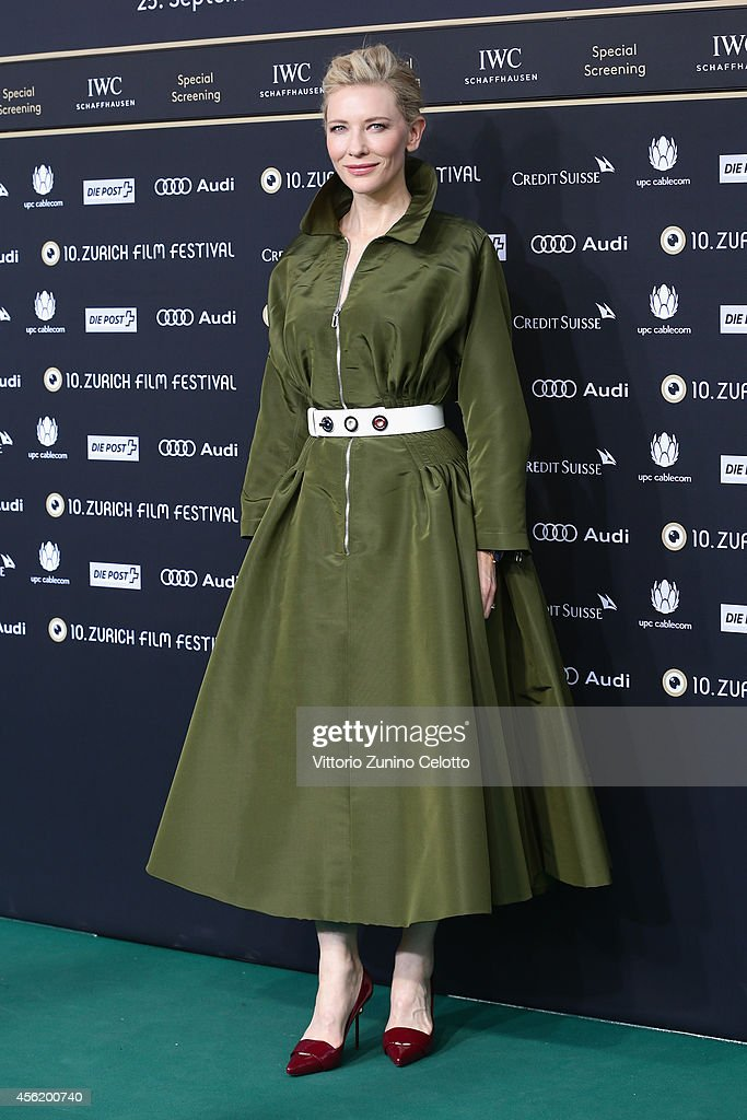 Cate Blanchettattends the 'Blue Jasmine' Green Carpet Arrivals during Day 3 of Zurich Film Festival 2014 on September 27 2014 in Zurich Switzerland