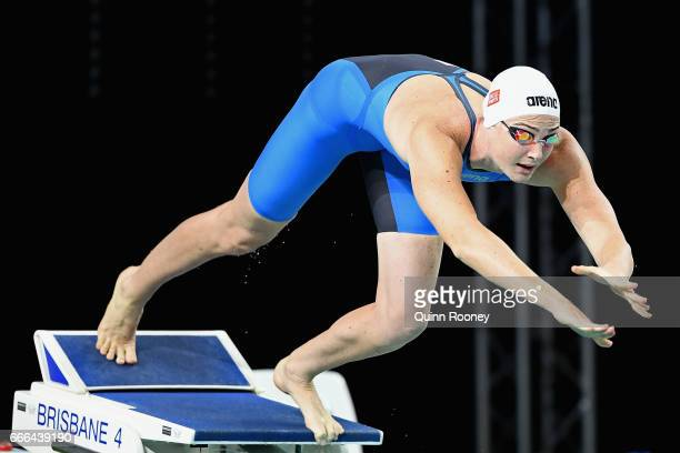 Cate Campbell of Australia competes in the Women's 100m Freestyle during the 2017 Australian Swimming Championships at the Sleeman Sports Complex on...