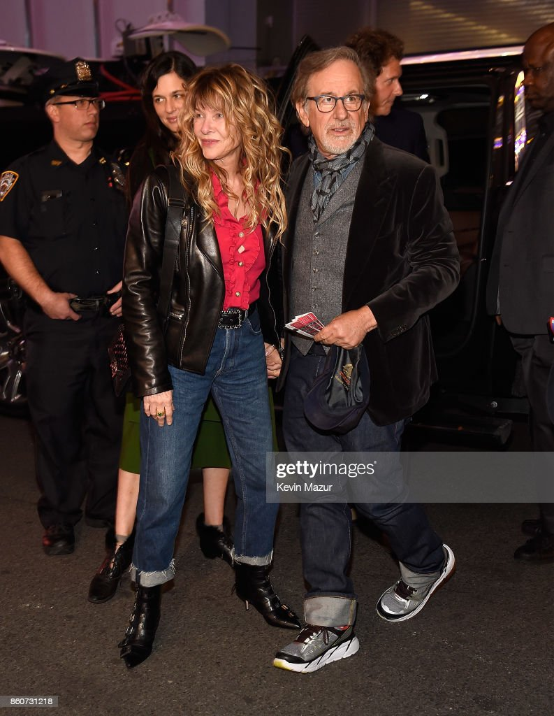 Cate Capshaw and Steven Spielberg attend 'Springsteen On Broadway' at Walter Kerr Theatre on October 12, 2017 in New York City.