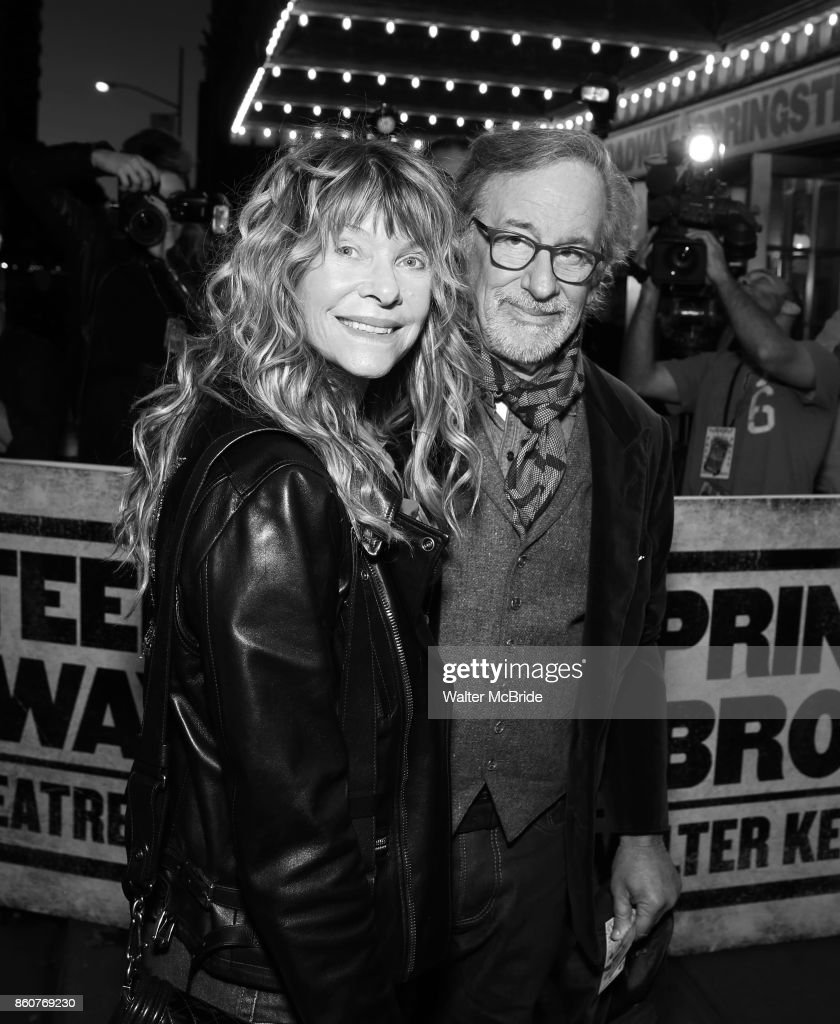 Cate Capshaw and Steven Spielberg attend the opening night performance for 'Springsteen on Broadway' at The Walter Kerr Theatre on October 12, 2017 in New York City.