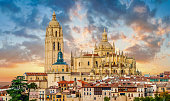 Catedral de Santa Maria de Segovia in the historic city of Segovia, Castilla y Leon, Spain