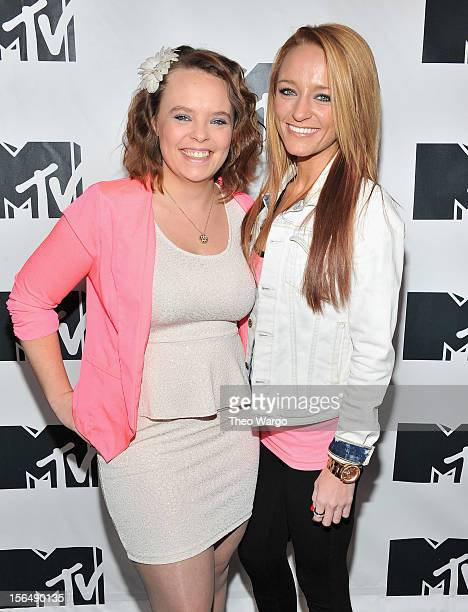 Catelynn Lowell and Maci Bookout attend MTV 'Restore The Shore' Jersey Shore Benefit at on November 15 2012 in New York City