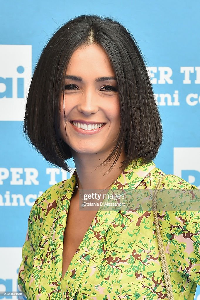 <a gi-track='captionPersonalityLinkClicked' href=/galleries/search?phrase=Caterina+Balivo&family=editorial&specificpeople=672571 ng-click='$event.stopPropagation()'>Caterina Balivo</a> attends Rai Show Schedule Presentation In Milan on June 28, 2016 in Milan, Italy.