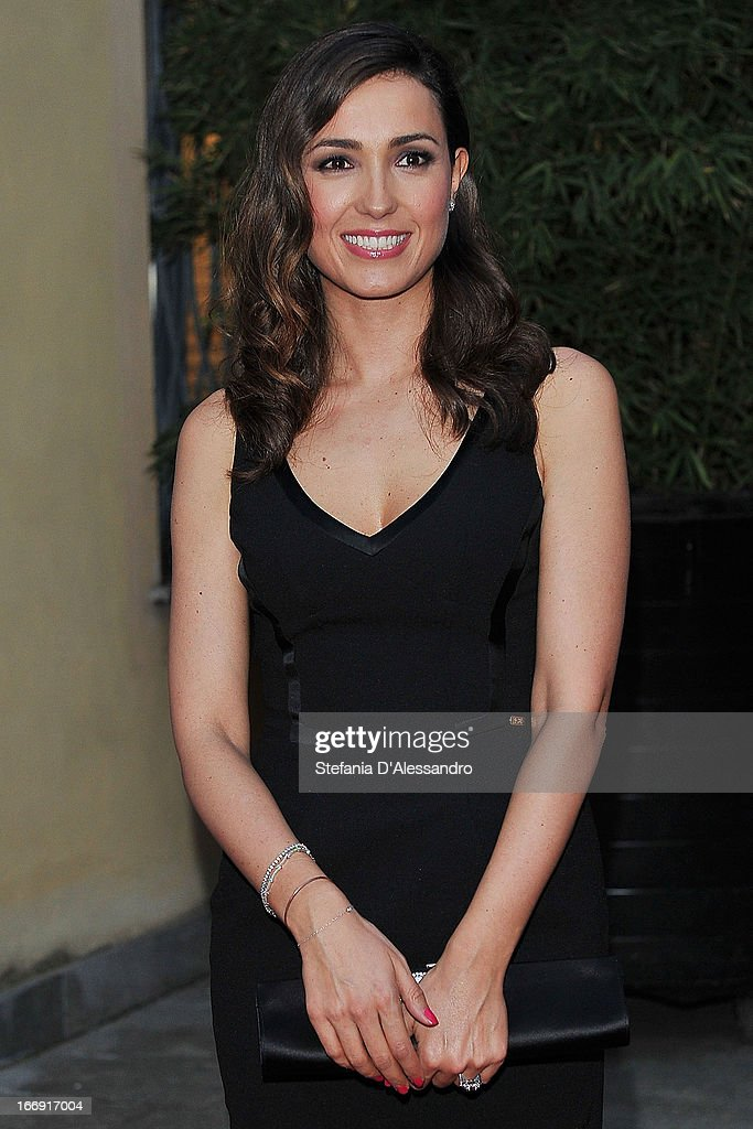 <a gi-track='captionPersonalityLinkClicked' href=/galleries/search?phrase=Caterina+Balivo&family=editorial&specificpeople=672571 ng-click='$event.stopPropagation()'>Caterina Balivo</a> attends Vanity Fair & Smash Box at Spazio Krizia on April 18, 2013 in Milan, Italy.