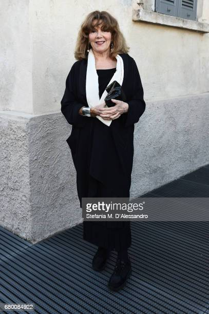 Caterina Caselli attends a 'Private view of 'TV 70 Francesco Vezzoli Guarda La Rai' at Fondazione Prada on May 7 2017 in Milan Italy