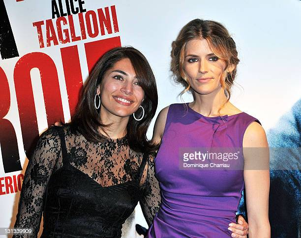 Caterina Murino and Alice Taglioni attend 'La Proie' Paris Premiere at UGC Cine Cite Bercy on April 12 2011 in Paris France